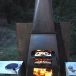 Outdoor open pizza fireplace